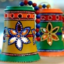 HND00518 Indian Lalhaveli Ethnic Designer Glass